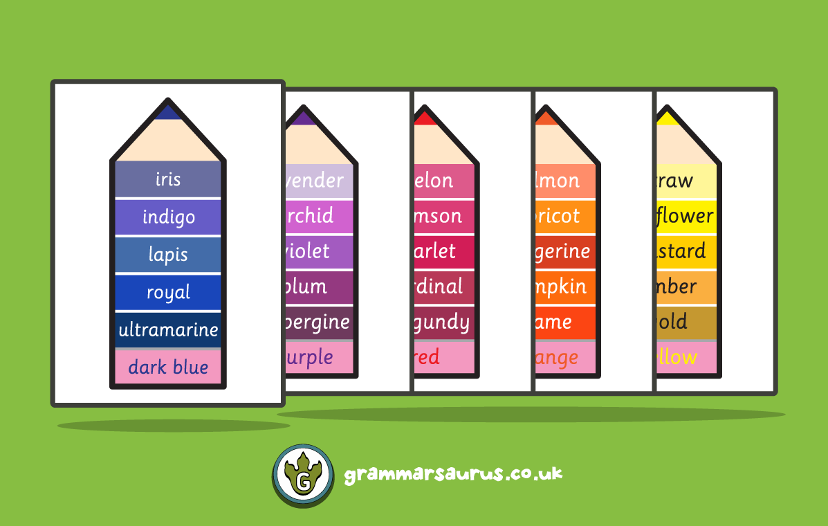 Colour Synonym Poster Pack Grammarsaurus