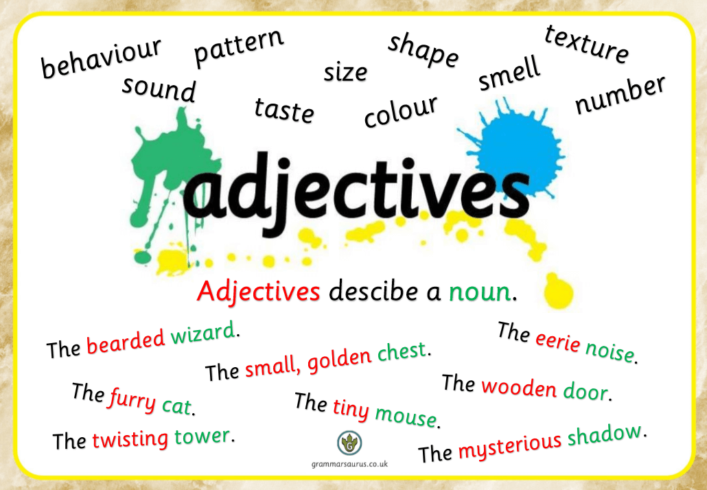 Image result for adjectives ks1