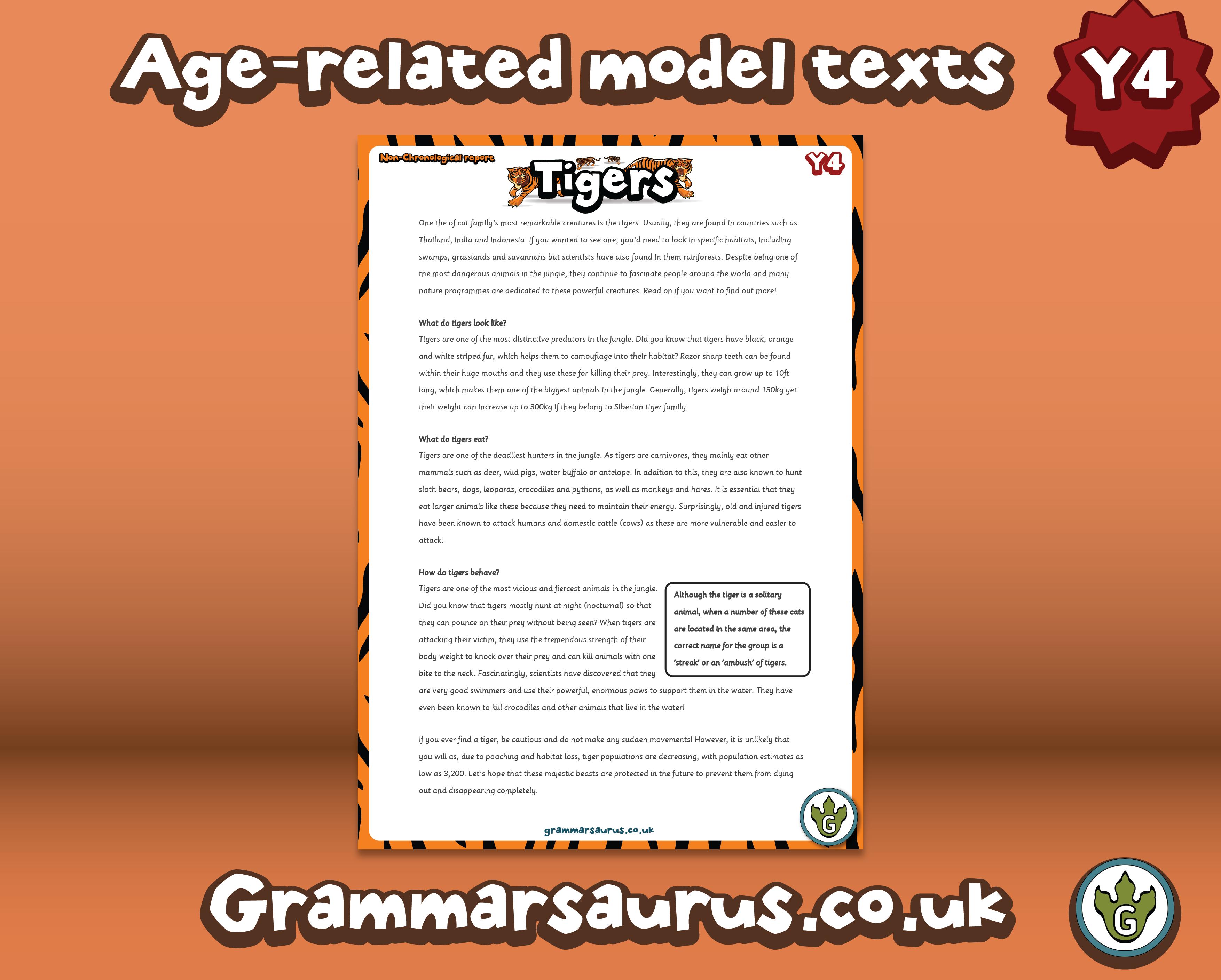 KS2 Model Texts Archives - Page 2 of 4 - Grammarsaurus