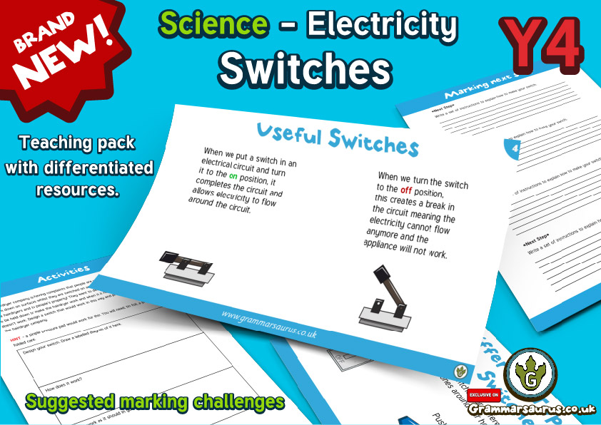 Year 4 Science – Electricity – How do switches affect a circuit ...