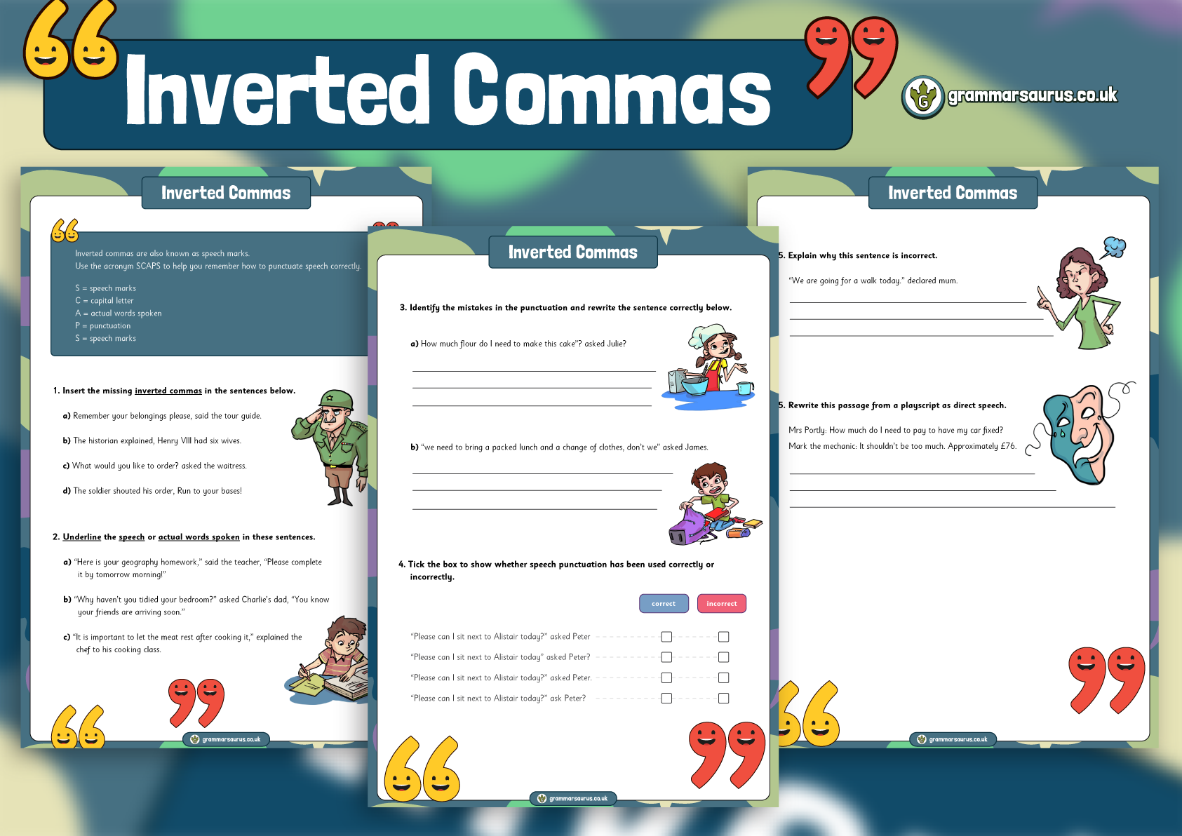 KS2 – Inverted Commas Worksheet