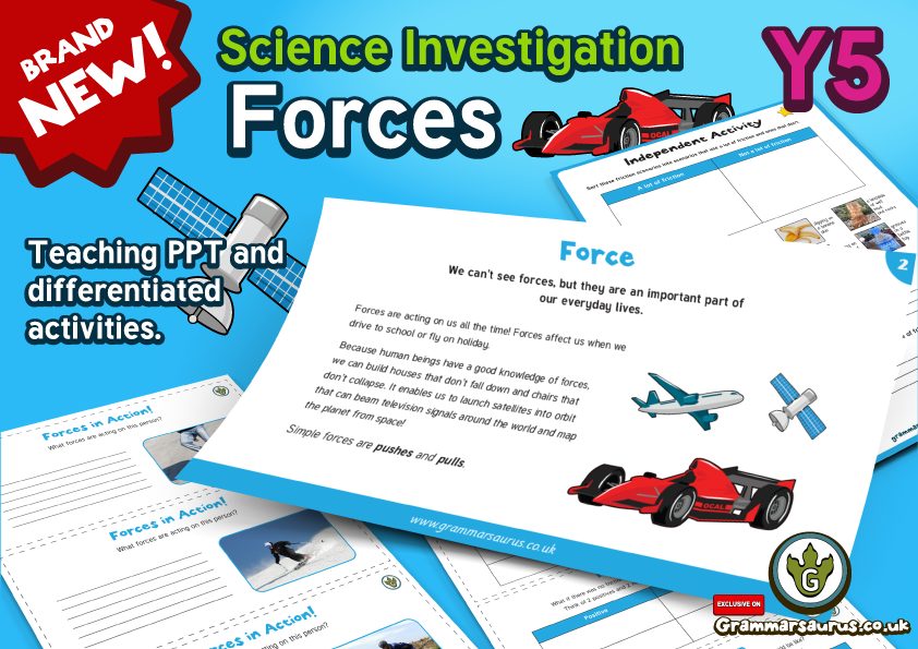 Pulleys Powerpoint Ks2 : New year science forces lesson grammarsaurus