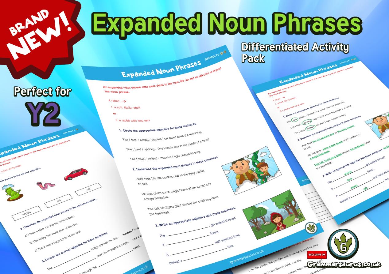 Year 2 - Expanded Noun Phrases - Grammarsaurus