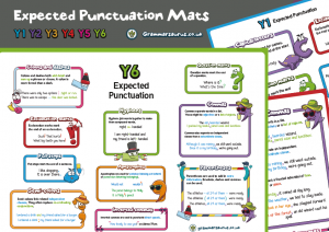 Punctuation Mats –  Expected Standard