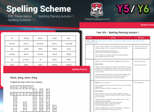 Year 5/6 Spelling Scheme – Autumn 1