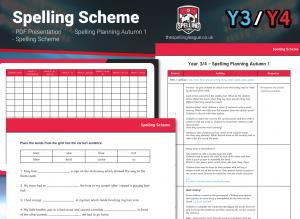 Year 3/4 Spelling Scheme – Autumn 1