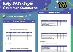 Year 6 Reading Comprehension Pack – SATs Practice – Daily Grammar Questions