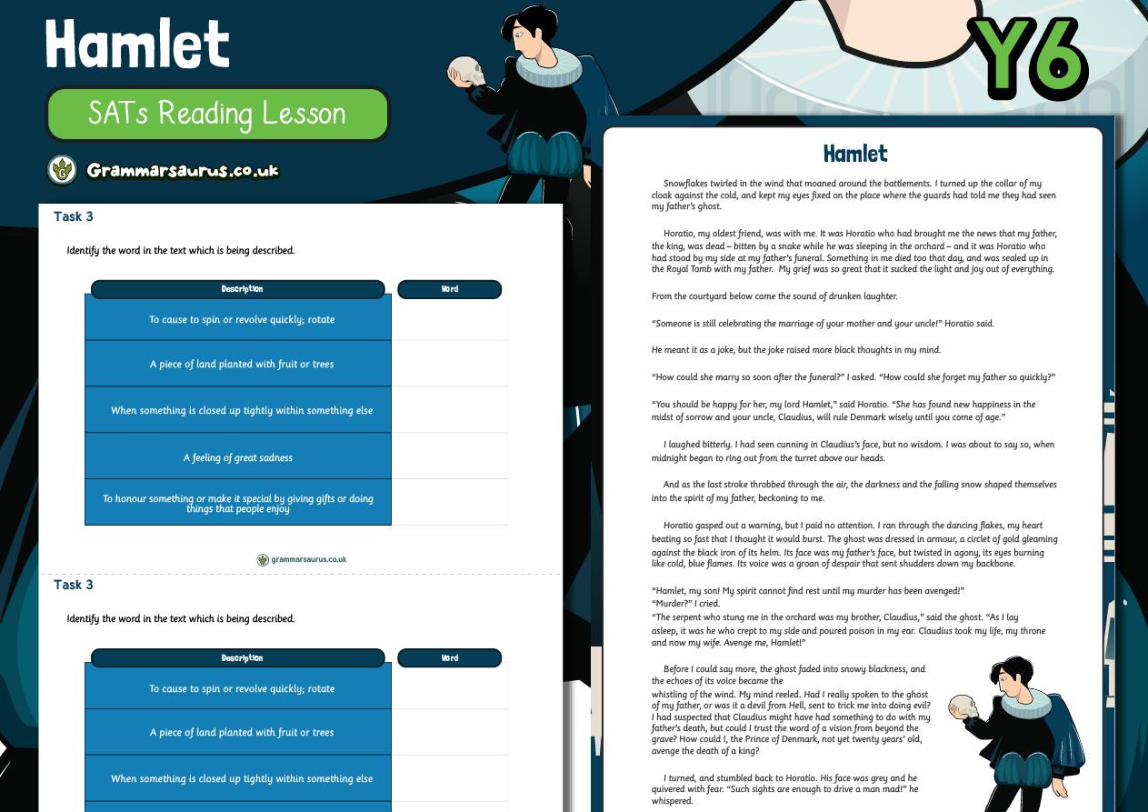 Year 6 SATs Reading Practice Pack – Hamlet Grammarsaurus