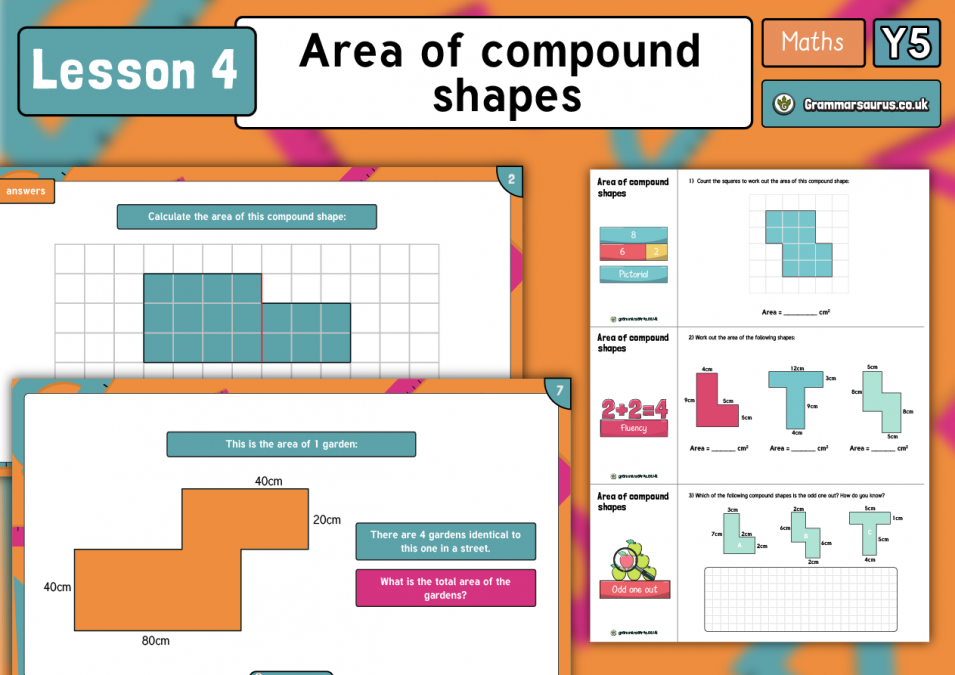 Year 5 Perimeter and Area - Area of Compound Shapes ...
