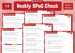 Year 4 Weekly SPaG Check – Spring 1 and 2